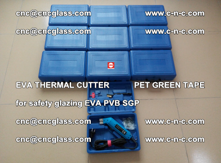EVA THERMAL CUTTER PET GREEN TAPE supporting EVALAM INTERLAYER FILM GLAZING (13)