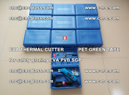 EVA THERMAL CUTTER PET GREEN TAPE supporting EVALAM INTERLAYER FILM GLAZING (14)