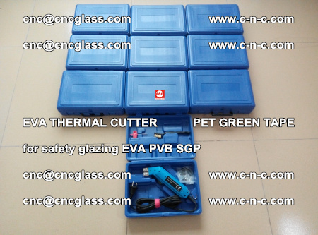 EVA THERMAL CUTTER PET GREEN TAPE supporting EVALAM INTERLAYER FILM GLAZING (17)