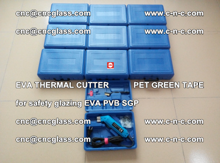 EVA THERMAL CUTTER PET GREEN TAPE supporting EVALAM INTERLAYER FILM GLAZING (18)