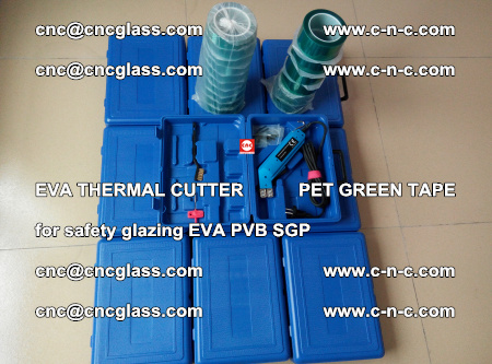 EVA THERMAL CUTTER PET GREEN TAPE supporting EVALAM INTERLAYER FILM GLAZING (41)