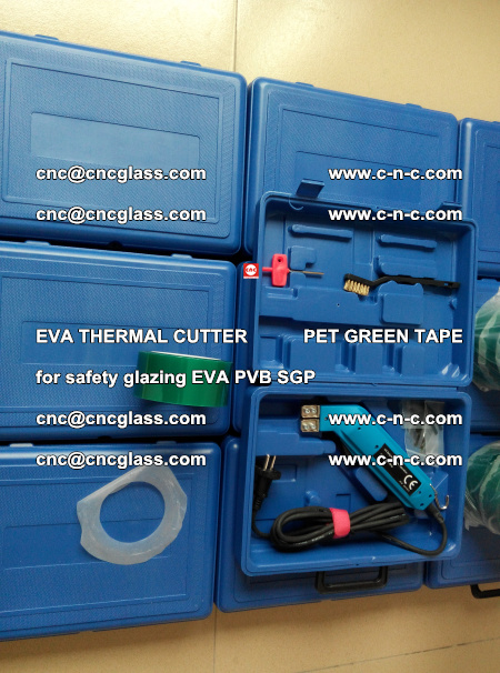 EVA THERMAL CUTTER PET GREEN TAPE supporting EVALAM INTERLAYER FILM GLAZING (42)
