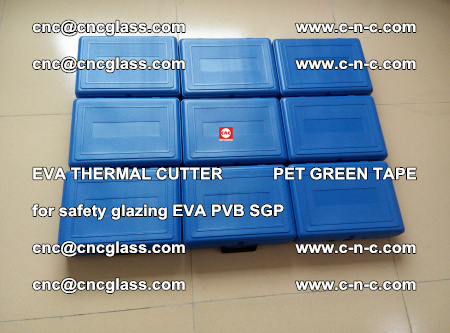 EVA THERMAL CUTTER PET GREEN TAPE supporting EVALAM INTERLAYER FILM GLAZING (7)