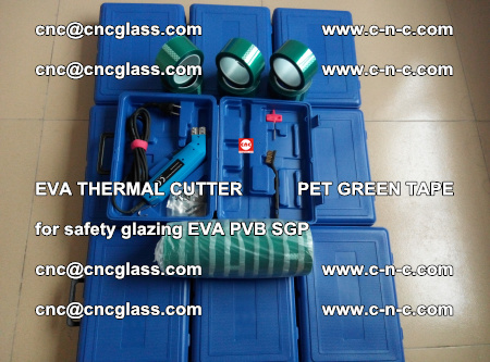 EVA THERMAL CUTTER PET GREEN TAPE supporting EVALAM INTERLAYER FILM GLAZING (81)