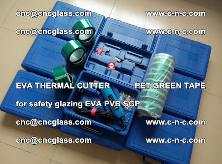 EVA THERMAL CUTTER PET GREEN TAPE supporting EVALAM INTERLAYER FILM GLAZING (82)
