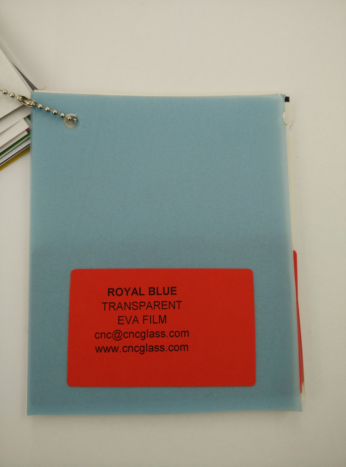 Royal Blue Ethylene Vinyl Acetate Copolymer EVA interlayer film for laminated glass safety glazing (10)