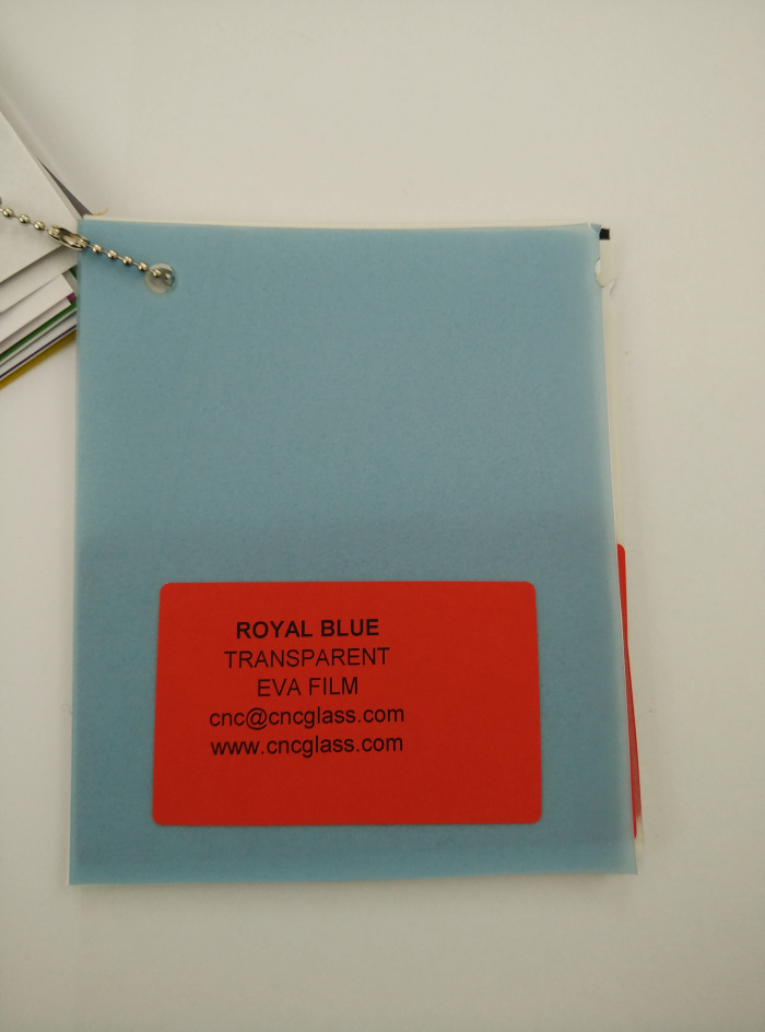 Royal Blue Ethylene Vinyl Acetate Copolymer EVA interlayer film for laminated glass safety glazing (11)