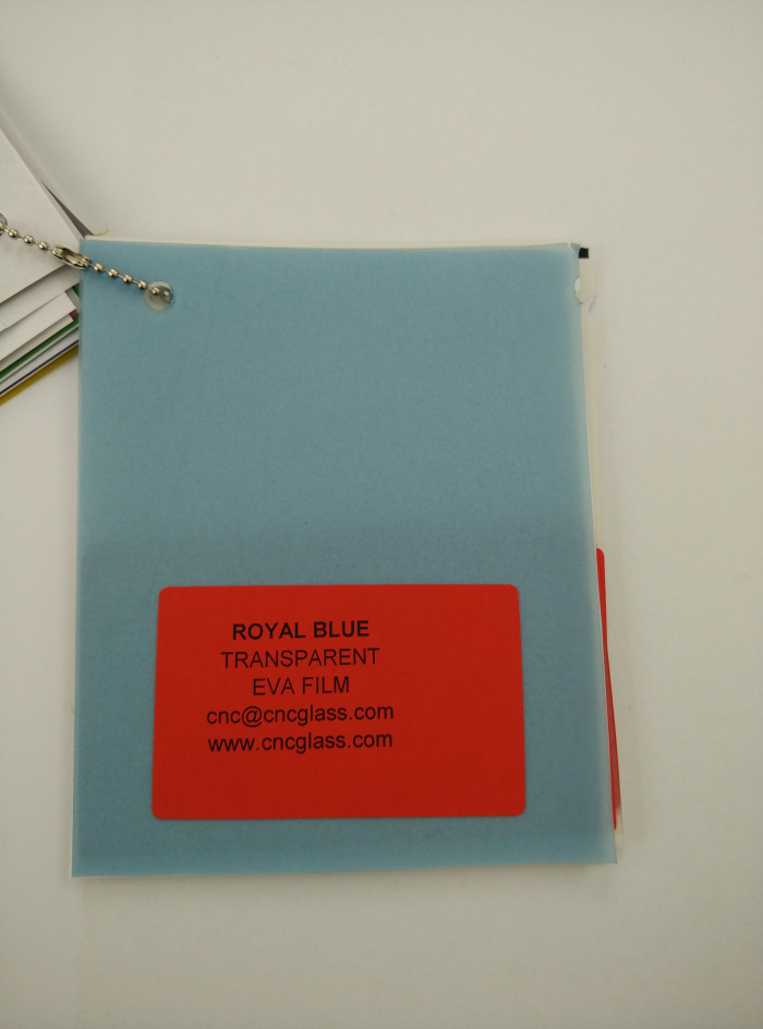 Royal Blue Ethylene Vinyl Acetate Copolymer EVA interlayer film for laminated glass safety glazing (12)