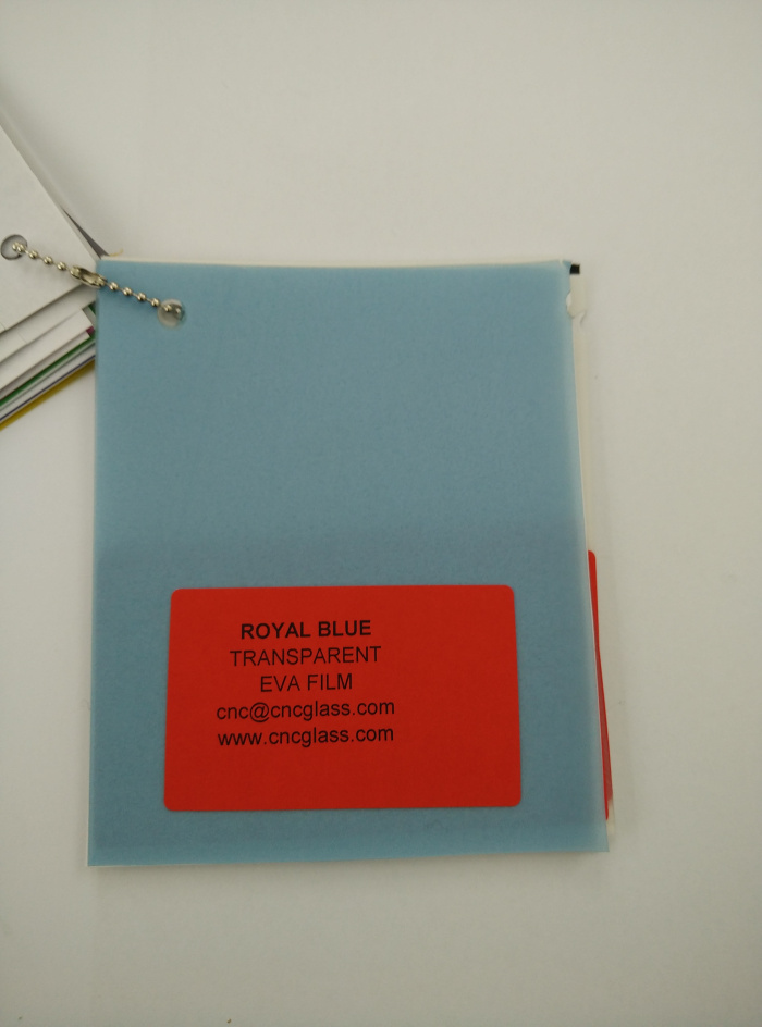 Royal Blue Ethylene Vinyl Acetate Copolymer EVA interlayer film for laminated glass safety glazing (13)