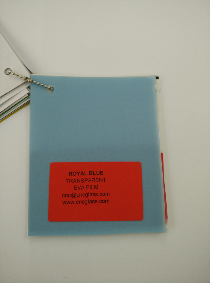 Royal Blue Ethylene Vinyl Acetate Copolymer EVA interlayer film for laminated glass safety glazing (14)