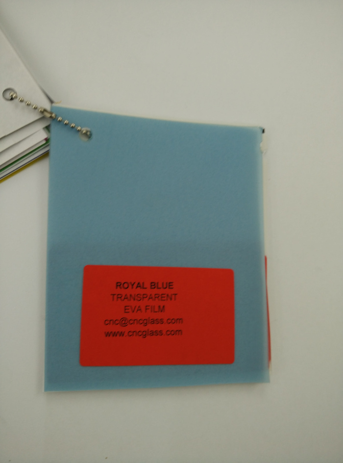 Royal Blue Ethylene Vinyl Acetate Copolymer EVA interlayer film for laminated glass safety glazing (16)
