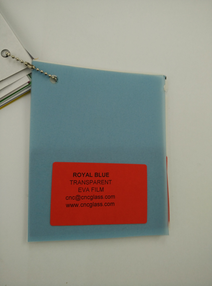 Royal Blue Ethylene Vinyl Acetate Copolymer EVA interlayer film for laminated glass safety glazing (17)
