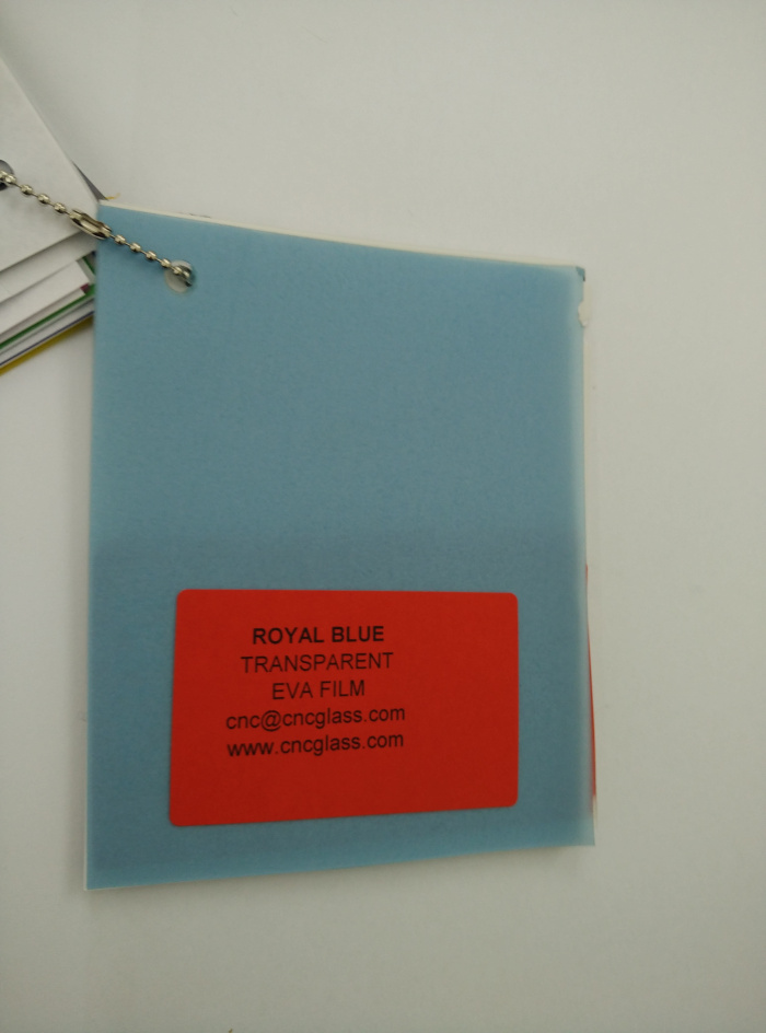 Royal Blue Ethylene Vinyl Acetate Copolymer EVA interlayer film for laminated glass safety glazing (18)