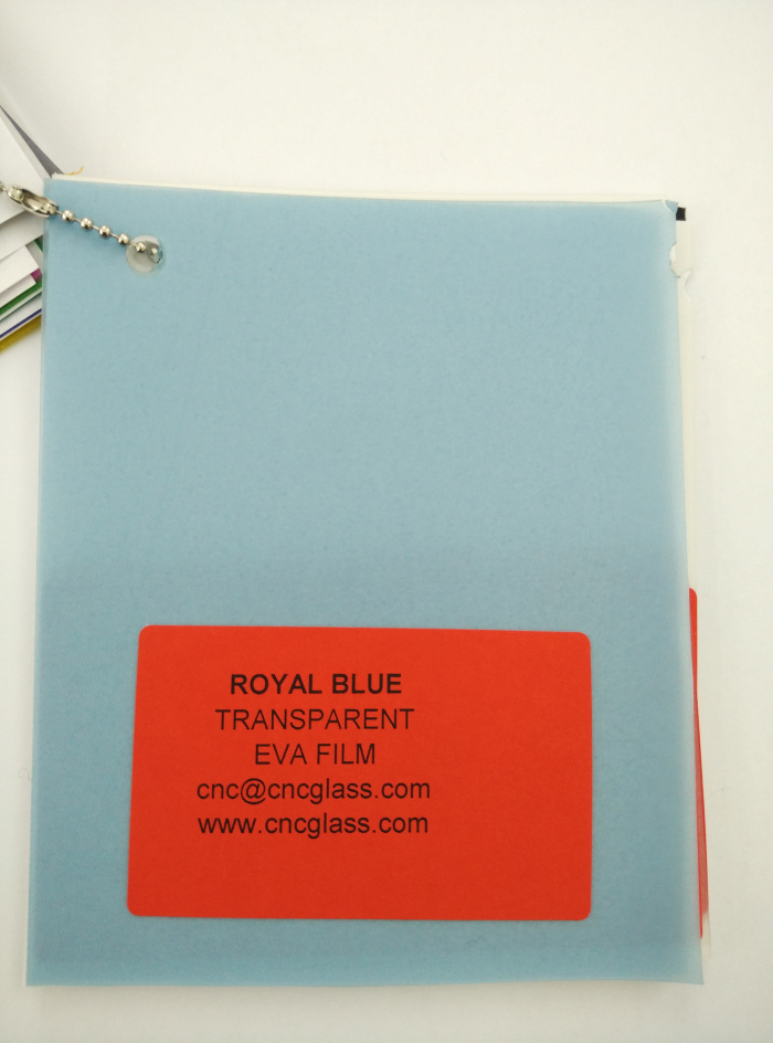 Royal Blue Ethylene Vinyl Acetate Copolymer EVA interlayer film for laminated glass safety glazing (3)