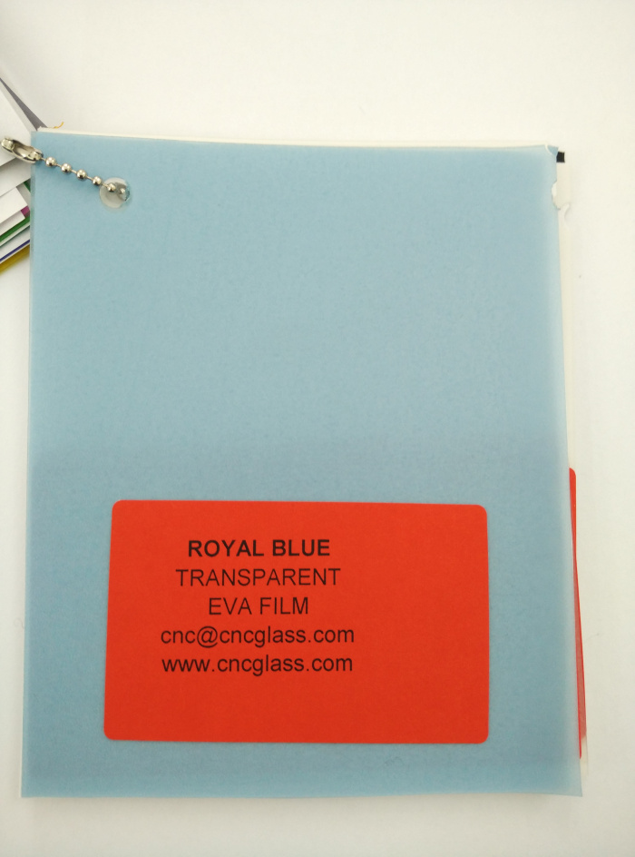 Royal Blue Ethylene Vinyl Acetate Copolymer EVA interlayer film for laminated glass safety glazing (4)