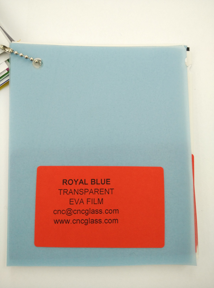 Royal Blue Ethylene Vinyl Acetate Copolymer EVA interlayer film for laminated glass safety glazing (5)