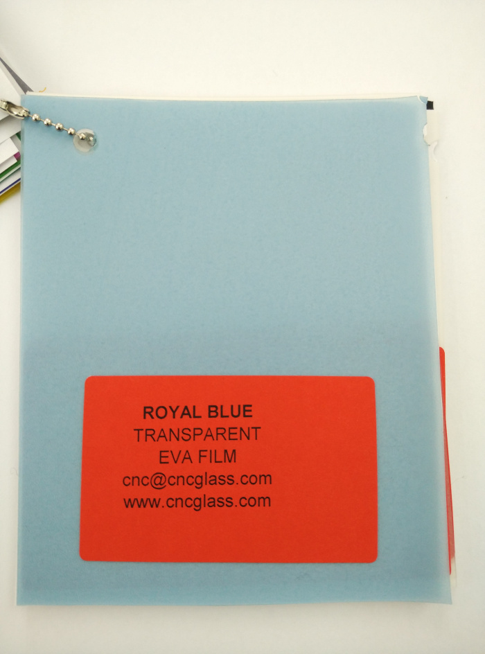 Royal Blue Ethylene Vinyl Acetate Copolymer EVA interlayer film for laminated glass safety glazing (6)