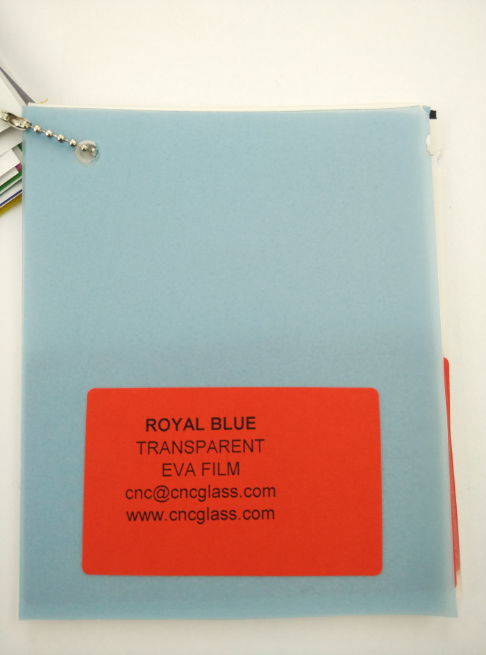 Royal Blue Ethylene Vinyl Acetate Copolymer EVA interlayer film for laminated glass safety glazing (7)