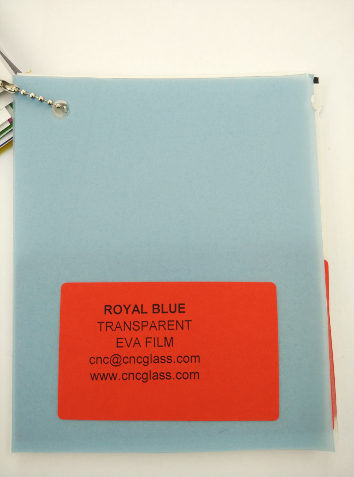 Royal Blue Ethylene Vinyl Acetate Copolymer EVA interlayer film for laminated glass safety glazing (8)