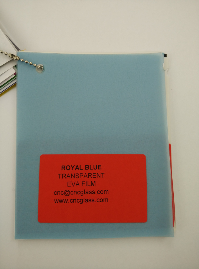 Royal Blue Ethylene Vinyl Acetate Copolymer EVA interlayer film for laminated glass safety glazing (9)