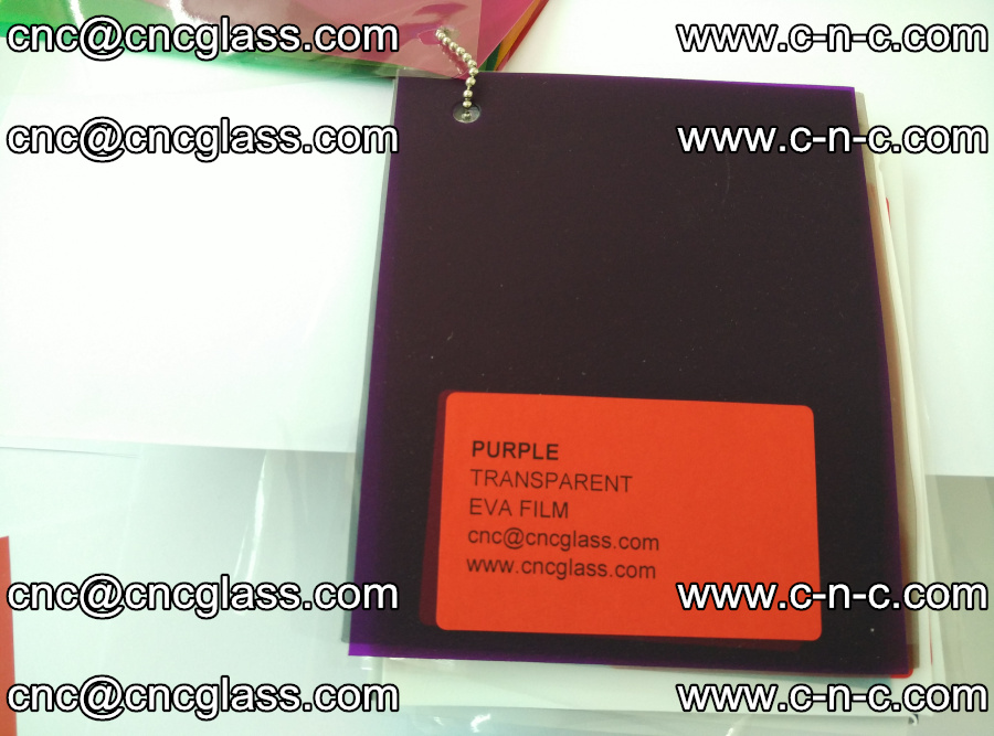 EVA glass laminating interlayer film Ethylene Vinyl Acetate (Purple clear color) (1)