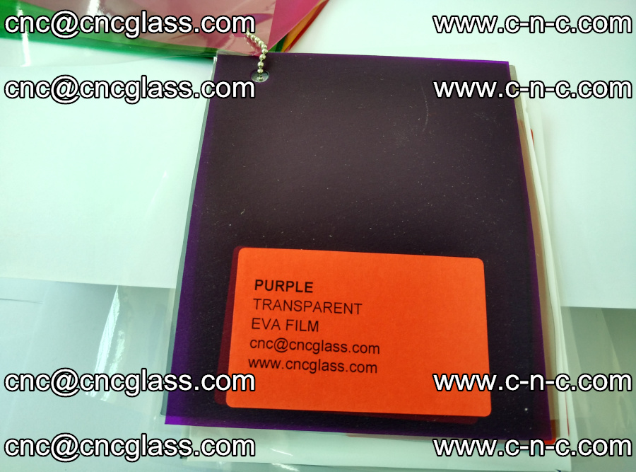 EVA glass laminating interlayer film Ethylene Vinyl Acetate (Purple clear color) (10)