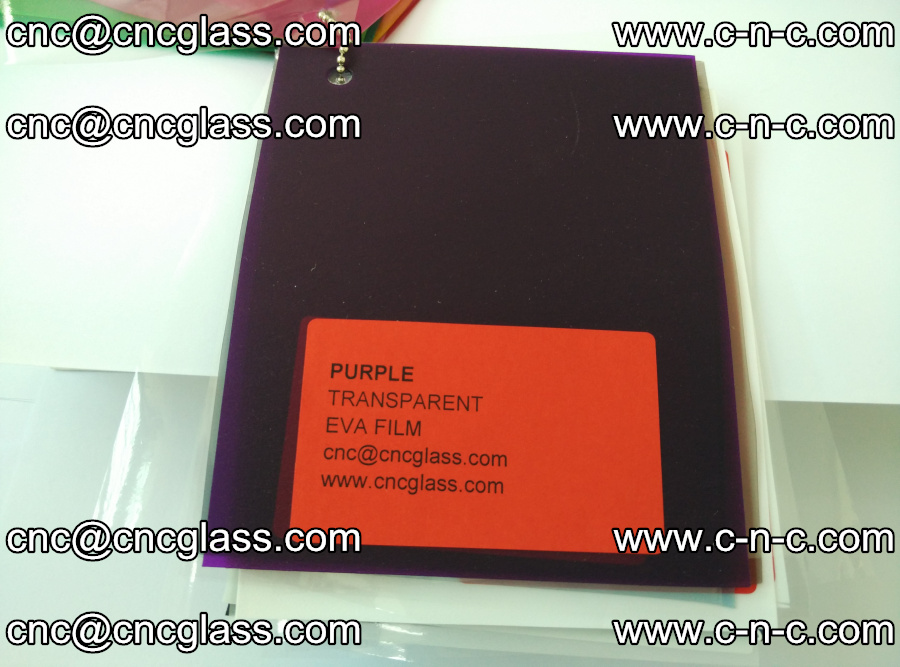 EVA glass laminating interlayer film Ethylene Vinyl Acetate (Purple clear color) (14)