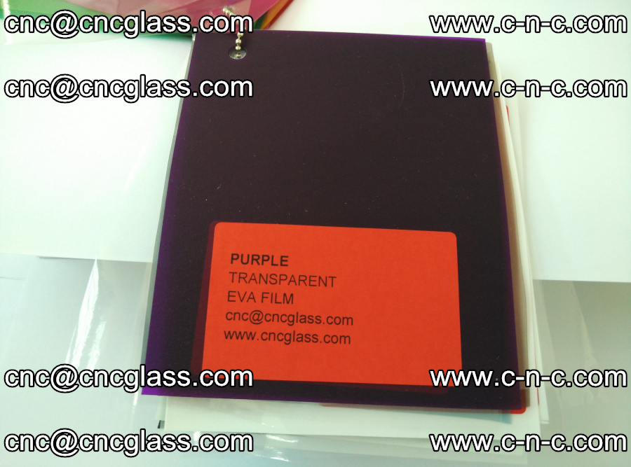 EVA glass laminating interlayer film Ethylene Vinyl Acetate (Purple clear color) (15)