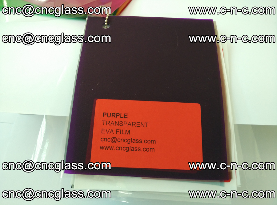 EVA glass laminating interlayer film Ethylene Vinyl Acetate (Purple clear color) (16)