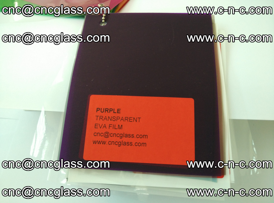 EVA glass laminating interlayer film Ethylene Vinyl Acetate (Purple clear color) (17)