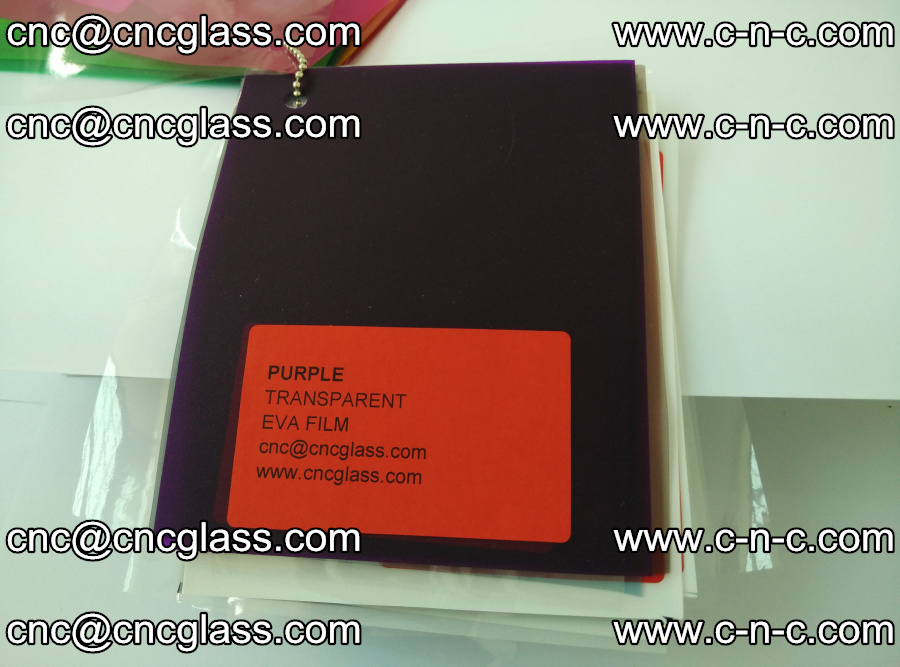 EVA glass laminating interlayer film Ethylene Vinyl Acetate (Purple clear color) (19)