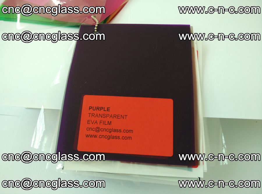 EVA glass laminating interlayer film Ethylene Vinyl Acetate (Purple clear color) (23)